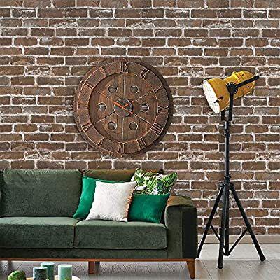 Heloho 196 8 X 17 71 Vintage Brown Brick Wallpaper Peel And Stick Wallpaper 3d Faux Textured In 2020 Brick Wallpaper Wallpaper Bedroom Brick Wallpaper Peel And Stick