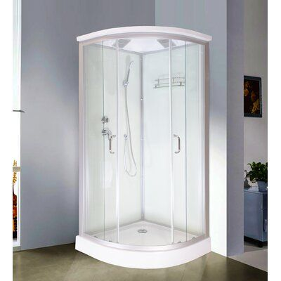 Royal Home Showers 36 X 86 Round Sliding Shower Enclosure With