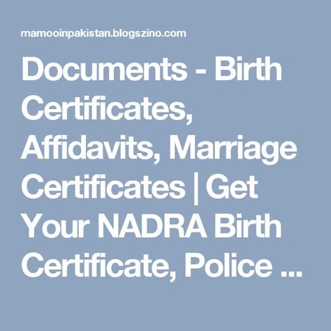 Pin by Zahid Akhtar on Marriage Certificate Pakistan Pinterest - new noc letter format for dubai visa from parents