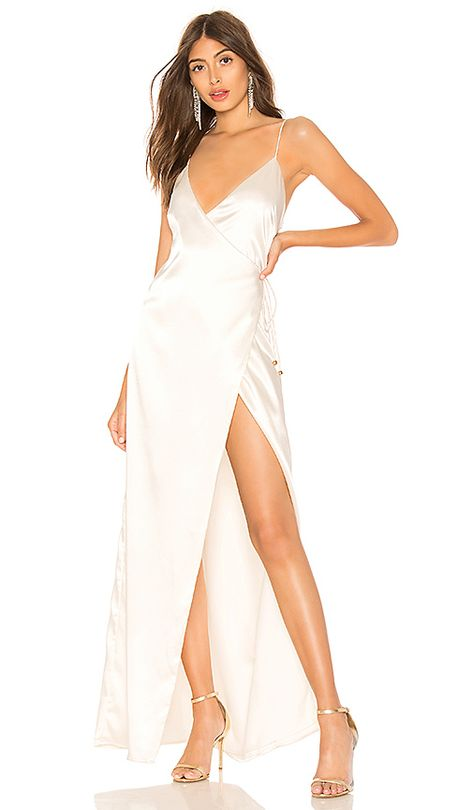 About Us Coco High Slit Maxi Dress in White