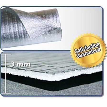 Smartshield 3mm 16 X50ft Reflective Insulation Roll Foam Core Radiant Barrier Thermal Insulation Reflective Foil Insulation Commercial Grade Pure Alumi Reflective Insulation Reflective Foil Insulation Roll Insulation