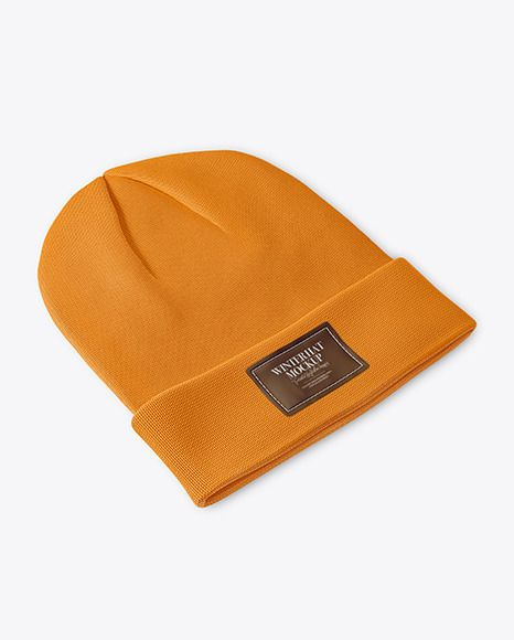 Download Winter Hat Mockup In Apparel Mockups On Yellow Images Object Mockups Design Mockup Free Free Psd Design Psd Template Free