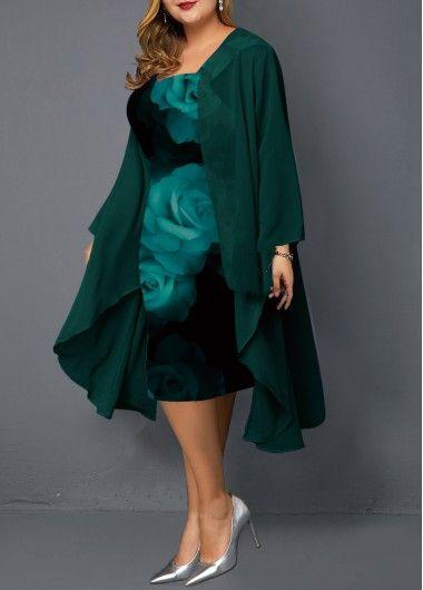 USD $35.33   Plus size dresses, Printed sheath