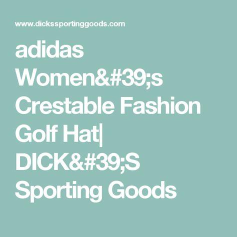 566493937a3 adidas Women s Crestable Fashion Golf Hat
