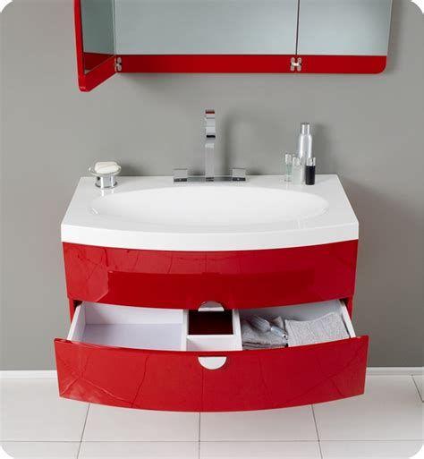 18++ Red bathroom vanity with sink type