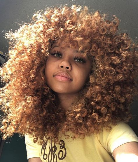 Dyed Curly Hair, Big Curly Hair, Colored Curly Hair, Dye My Hair, Curly Hair Styles, Curly Girl, Crown Hairstyles, Afro Hairstyles, Pretty Hairstyles
