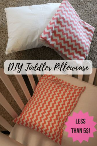 DIY Toddler Pillowcase for 13x18