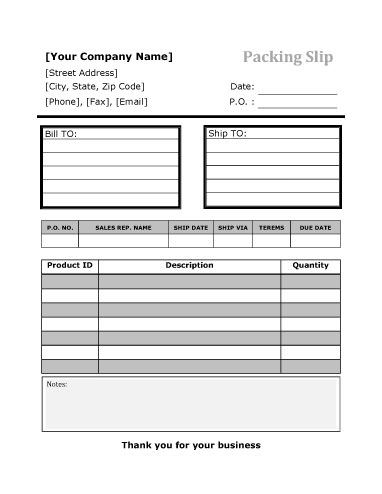 10 best Packing List Template images on Pinterest Packing slip