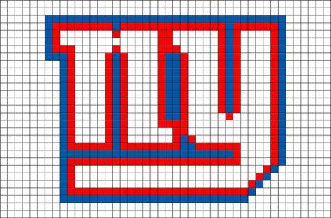 New York Giants Pixel Art New York Giants Football Pixel