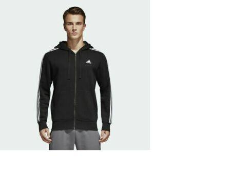 Trapunta Tempo strappare  Mens Adidas Essentials Hoodie Track Jacket Black White 3 Stripe Full Zip  B47368   Jackets, Adidas men, Track jackets