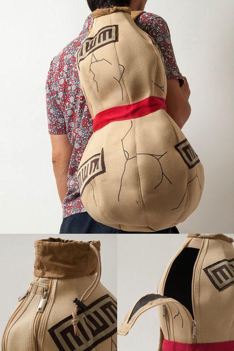 Naruto Gaara Gourd Bag #naruto #gaara #sandgourd #cosplay #anime #merchandise #animemerchandise #narutomerchandise