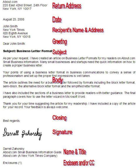 Business Letter Format and Blank Template Office Pinterest