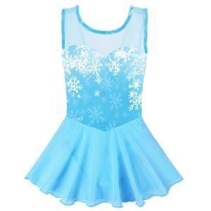 Skirted Short Sleeve AUKARENY Dance Leotard for Girls Dance Dress Ballet