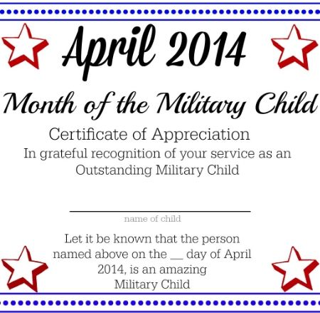 Military Children - Children of the world, blown to all corners of - army certificate of appreciation