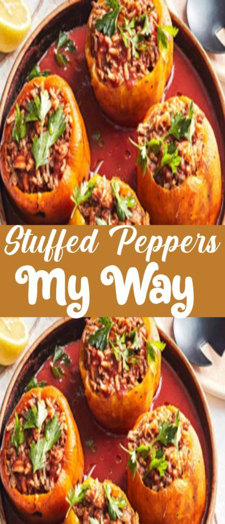Roasted Green Bell Peppers Are Stuffed With Feta Cheese And A Mixture Of Rice And Green Onions In 2020 Stuffed Peppers Rice Recipes For Dinner White Rice Recipes
