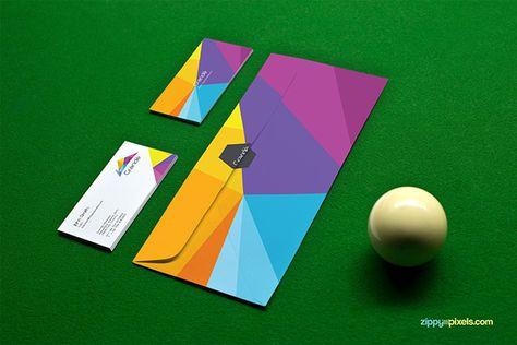8 Free Photorealistic Stationery Branding PSD Mockups by Zippy Pixels, via Behance