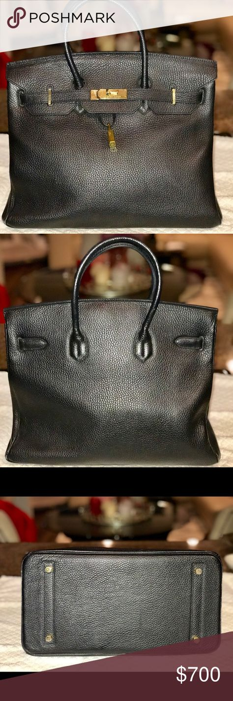 45cfb30bf5e5 GORGEOUS HERMÈS BIRKIN HANDBAG COPY This is a stunning handbag in beautiful  black pebbled leather