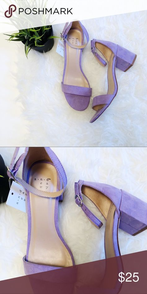 33feb4a9522c A New Day Block Heel Purple Size 8 New with tags Size 8 Lavender heel a new  day Shoes Heels