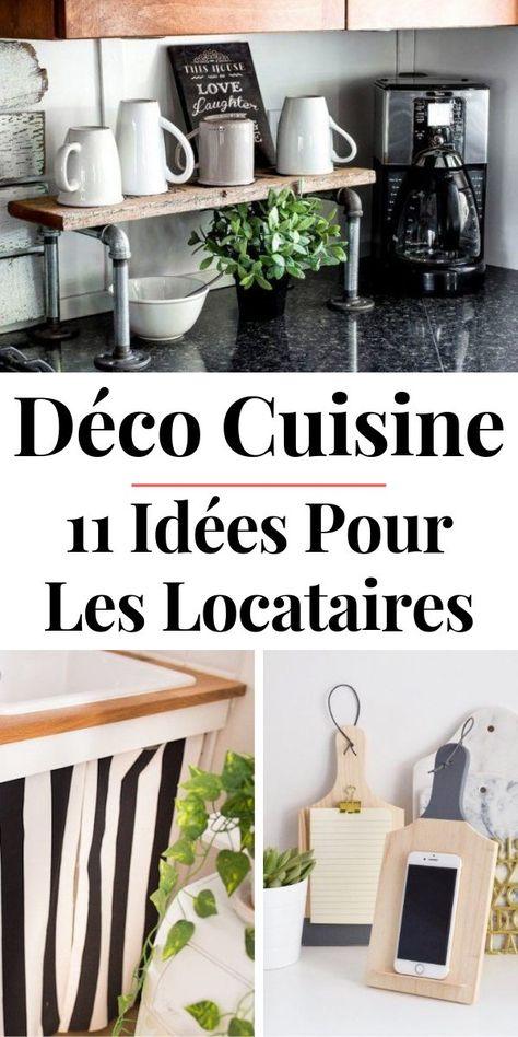 11 Idées DIY pour Décorer & Aménager la Cuisine Quand on est Locataire