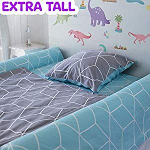 2 Pack Extra Tall Foam Bed Rails For Toddlers Soft Bed Bumpers