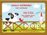 Cow/Farm invitations