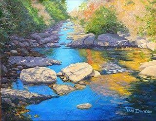 17 Gambar Lukisan Pemandangan Gunung Yang Mudah Lukisan Sungai Berbatu Download Lukisan Pemandangan Alam Yang Sangat Indah Di 2020 Pemandangan Air Terjun Gambar