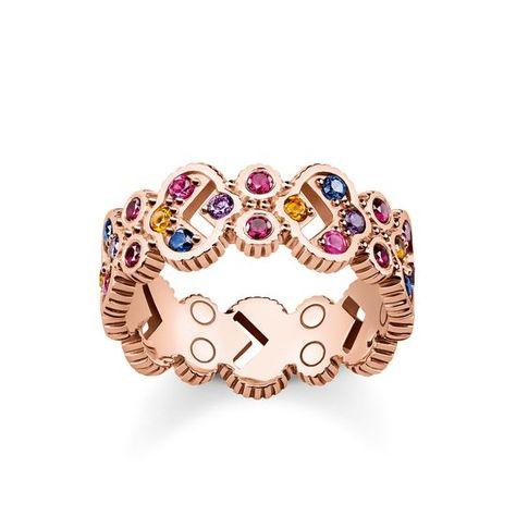 Ring Royalty Colourful Stones Thomas Sabo Gold Silver Bracelets Sterling Silver Bracelets