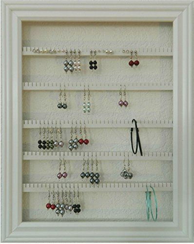 Earring Holder Display Frame In 2020 Jewelry Wall Hanging Picture Frames Jewelry Wall Rack