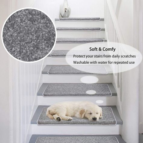Amazon Com Pure Era Carpet Stair Treads Set Of 7 Non Slip Self
