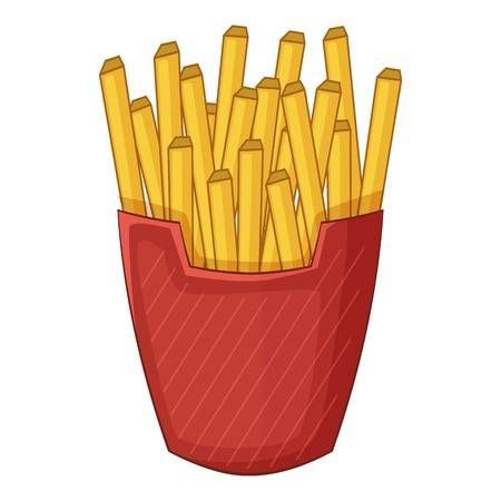 Patatas Fritas Icono Estilo De Dibujos Animados Patatas Fritas Patatas Comidas Del Mundo