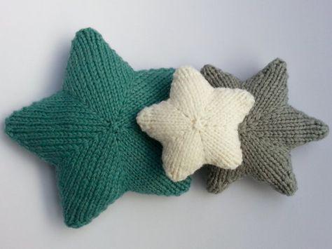 Stars Knitting Pattern Handmade Stars Pinterest Knitting