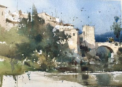 Blockx Watercolours Watercolor Architecture Landscape Paintings