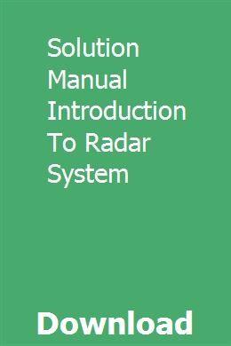 Solution Manual Introduction To Radar System | ccorevtriper