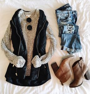 53 Best Hipster Outfits Ideas For Women In This Fall - Winter Outfits Hipster Outfits, Mode Outfits, Fashion Outfits, Fashion Ideas, Women's Dress Casual Outfits, Vest Outfits For Women, Casual Friday Outfit, Hipster Style, Trendy Style