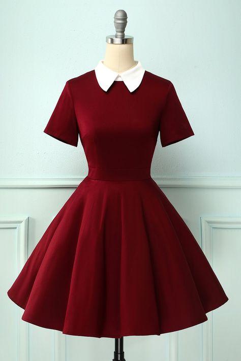 Teen Fashion Outfits, Cute Fashion, Girl Outfits, Fashion Dresses, 1950s Fashion, Emo Fashion, Fashion Vintage, Rockabilly Fashion, Emo Outfits