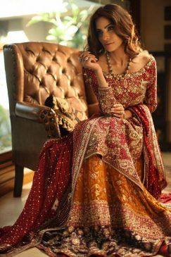 The Pakistani Bridal Dresses 2017 reveal shades and designs for shaadi season.Collection of the most beautiful Pakistani Bridal dresses