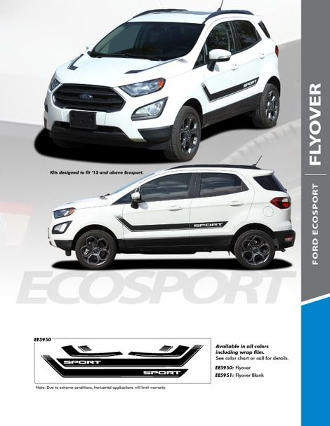 Ford Ecosport Graphics Flyover Kit 2018 2019 2020 3m Or Avery