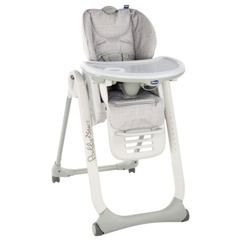 Chicco Polly2start Happy Highchair Silver In 2020 Wooden High