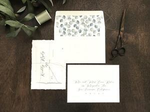 Deckled Edge Wedding Invitation With Eucalyptus Wedding Invitation Sets Wedding Invitations Botanical Wedding Invitations