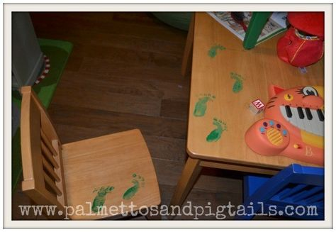 Don't forget those footprints - Fun St. Patrick's Day Traditions for Kids - Photos