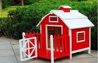 Red Wood Pet Dog House Dog Houses Dog House Inside Puppy House