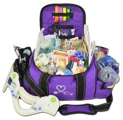 Large First Responder Bag With Deluxe Fill Kit - Purple | FD