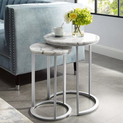 Kayson Round 2 Piece Nesting Tables Nesting End Tables Nesting