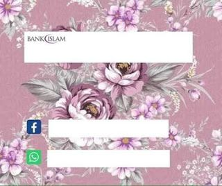 Background Template Akaun Bank Islam