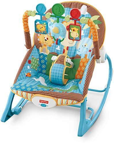 Fisher Price Infant To Toddler Baby Rocker Dark Safari Rocking Chair Seat Gift