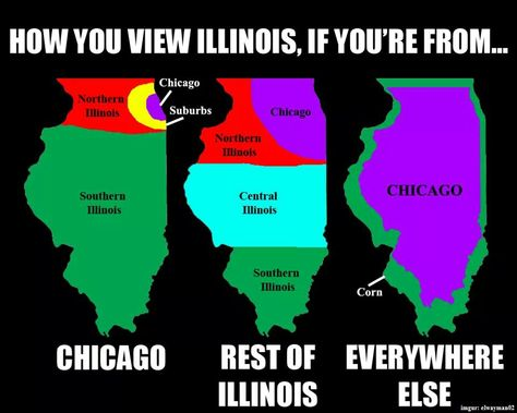 Illinois The S Is Silent People Funny Maps Chicago