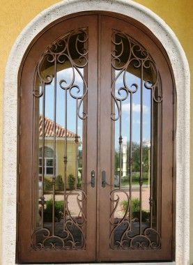 Wrought Iron Doors By Cantera Doors Leading Supplier In 2020 Wrought Iron Doors Front Entrances Wrought Iron Doors Steel Entry Doors