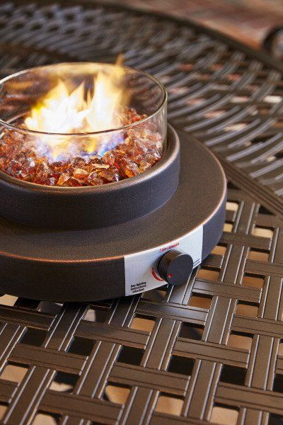 A Table Top Fire Bowl Creates Warm Outdoor Ambiance