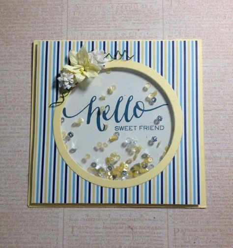 Hello Shaker Card by AKCaraboo - Cards and Paper Crafts at Splitcoaststampers