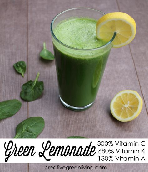 Green Lemonaide recipe  3 small or 2 large lemons      1 cucumber 2 granny smith apples      1/3 green bell pepper 5 kale leaves OR 2 cups baby spinach